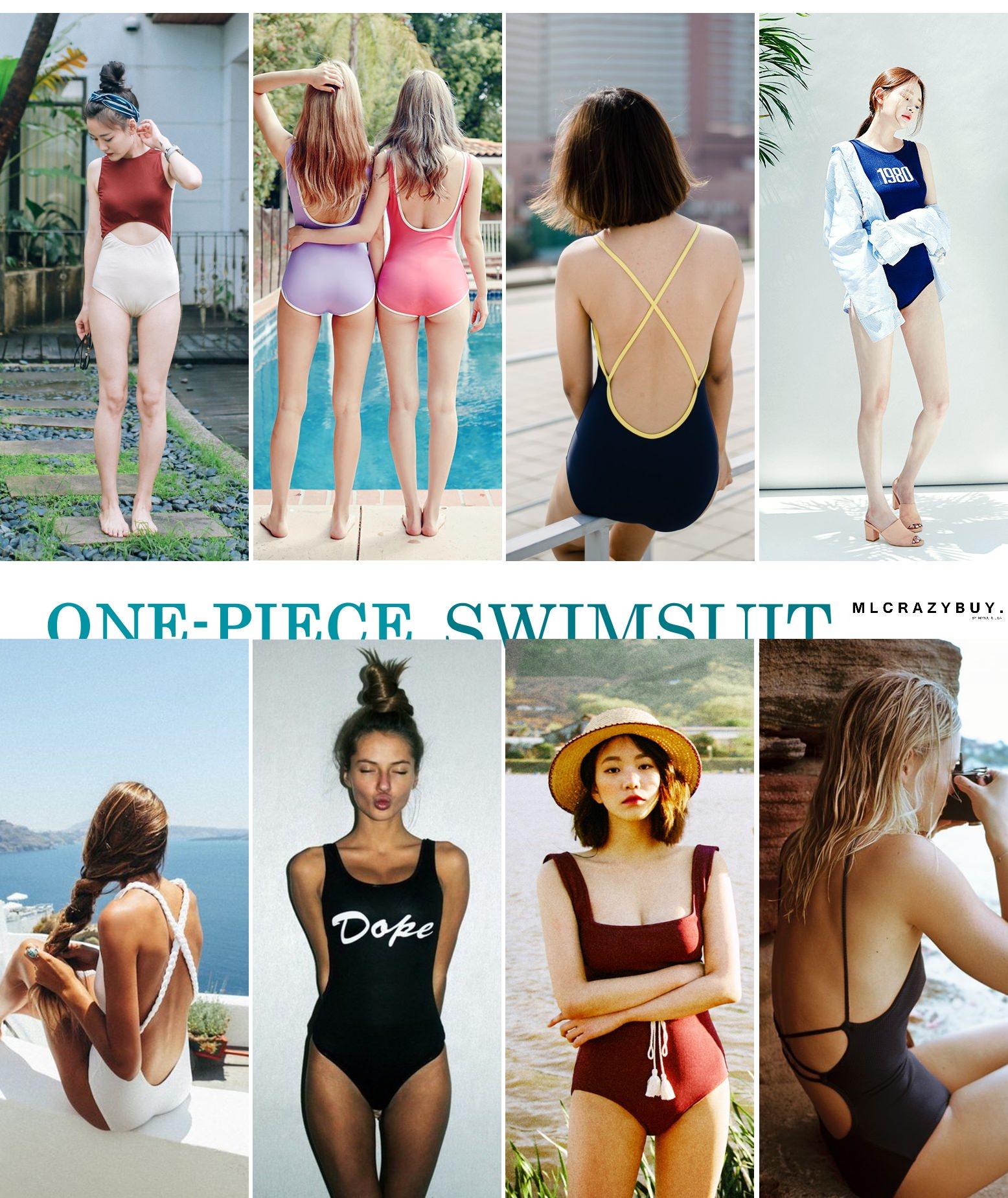 [swimsuit] 文青女孩的比基尼購物日記♥復古連身泳衣也時尚!